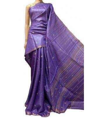 Purple Handloom   Silk Saree