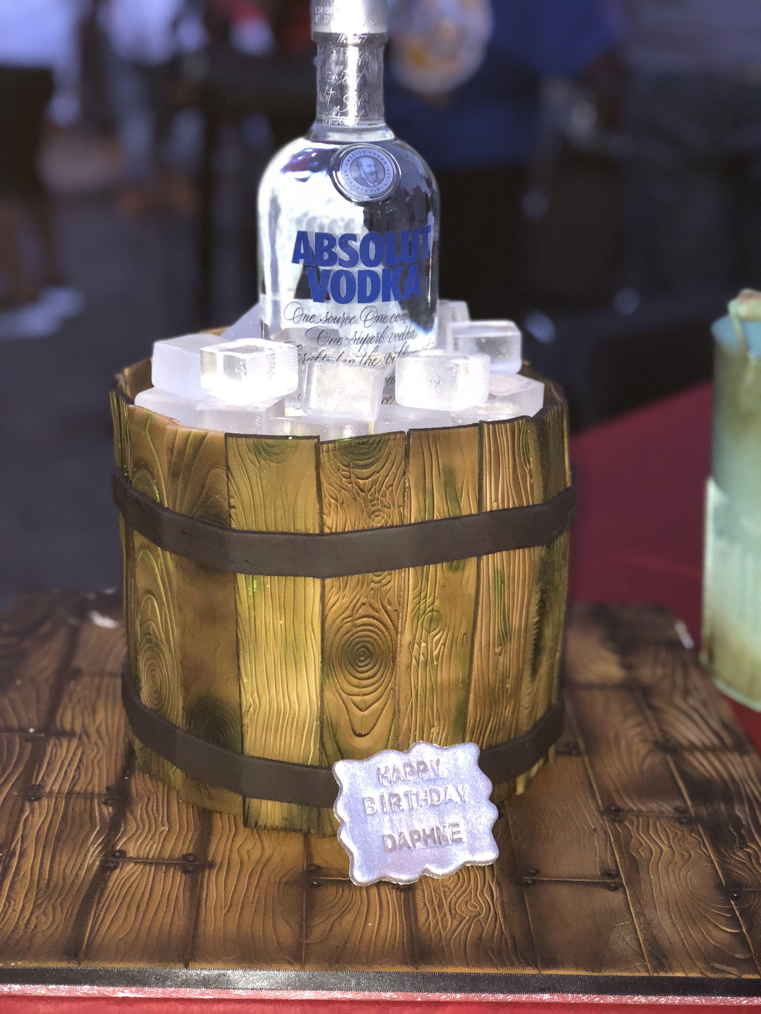 Absolute vodka cake vodka cakes for men barrel cake