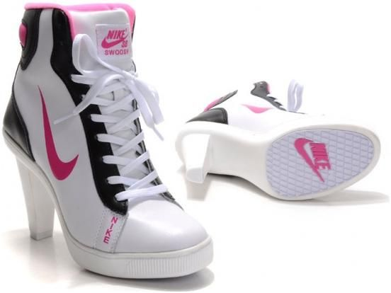 Womens Nike White Black Red Dunks Sb Swoosh Heels