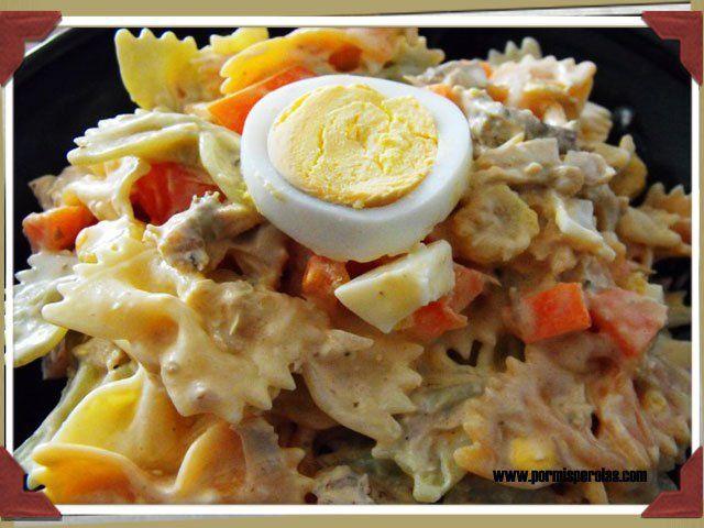 Ensalada de pasta y pollo - http://www.todareceta.es/r/ensalada-de-pasta-y-pollo-9595893.html
