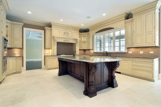 lujo-muebles-de-cocina-de-madera-con-molduras-de-corona-para ...