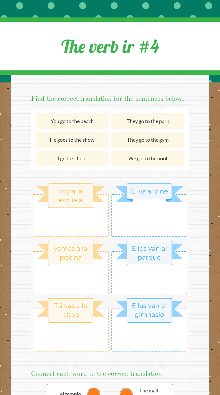 Use This Wizer Me Interactive Worksheet The Verb Ir To Go With Your Students Or Create Your Own Verb Elementary Spanish Sentences [ 1380 x 768 Pixel ]