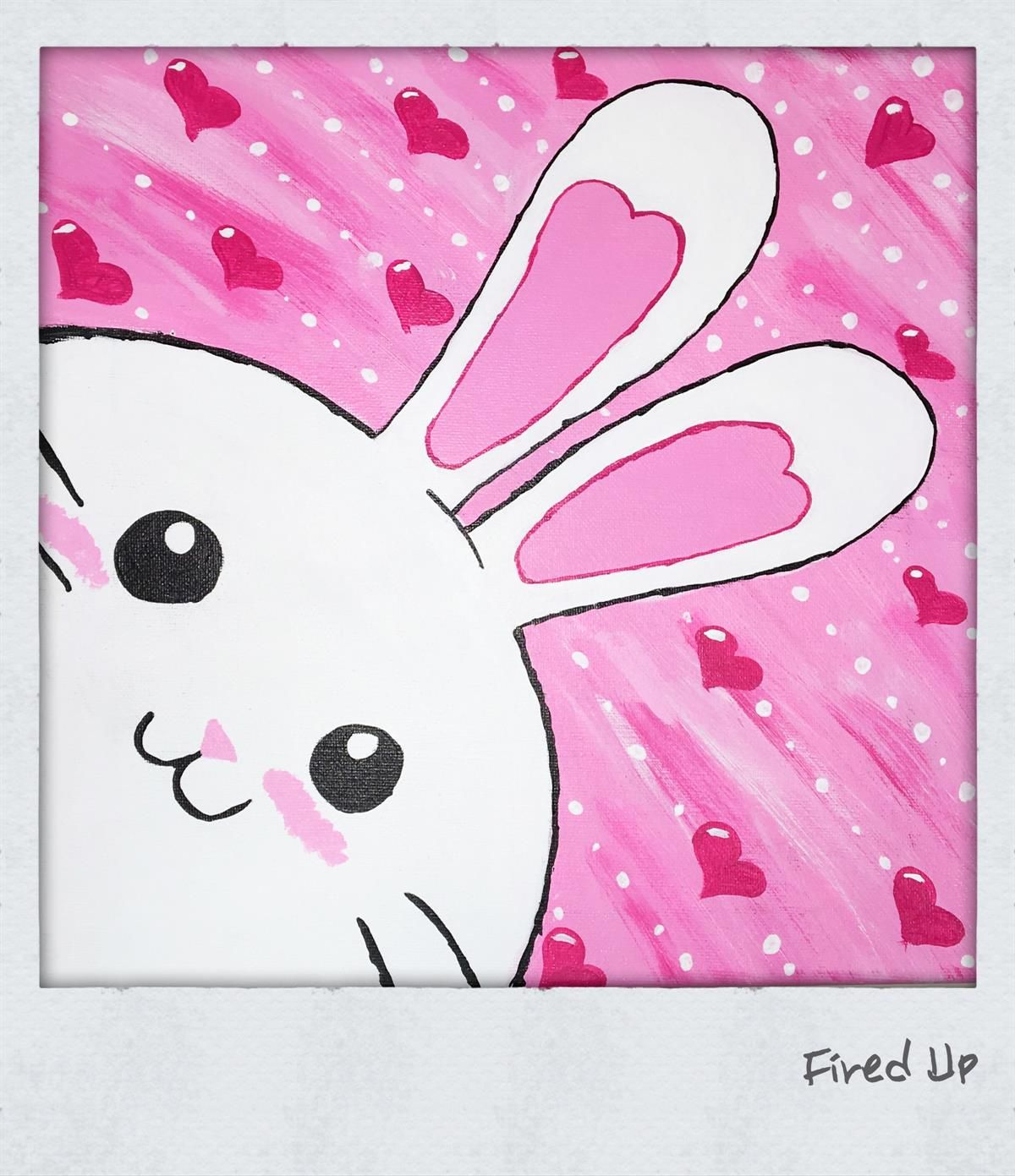 Home Kids Canvas Art Bunny Painting Mini Canvas Art