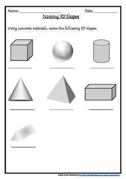3d Shape Assessment 3d Shape Shape Posters Shape Sort