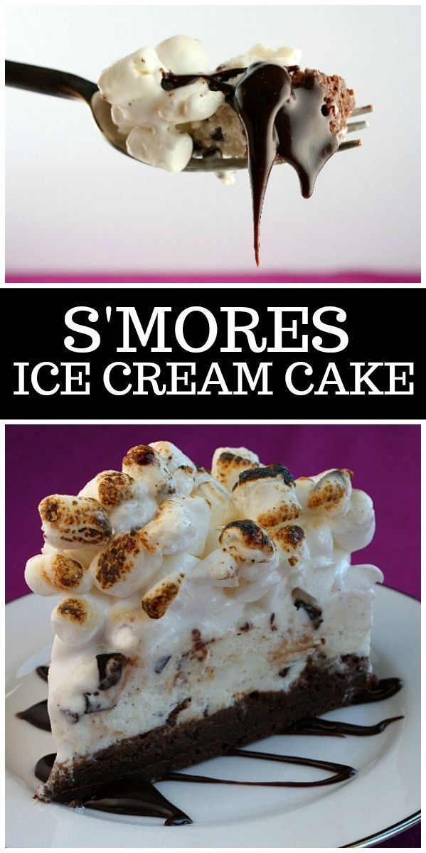 S'Mores-Eiscremekuchen von  ...   - S'more Recipes -