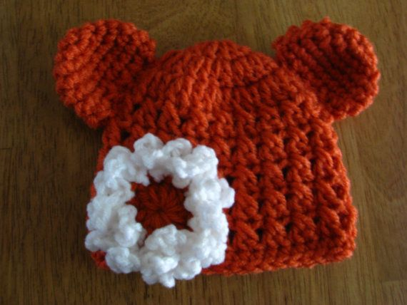 Newborn Baby Bear Hat Crochet Baby Bear Hat by TrudysKnotsofLove