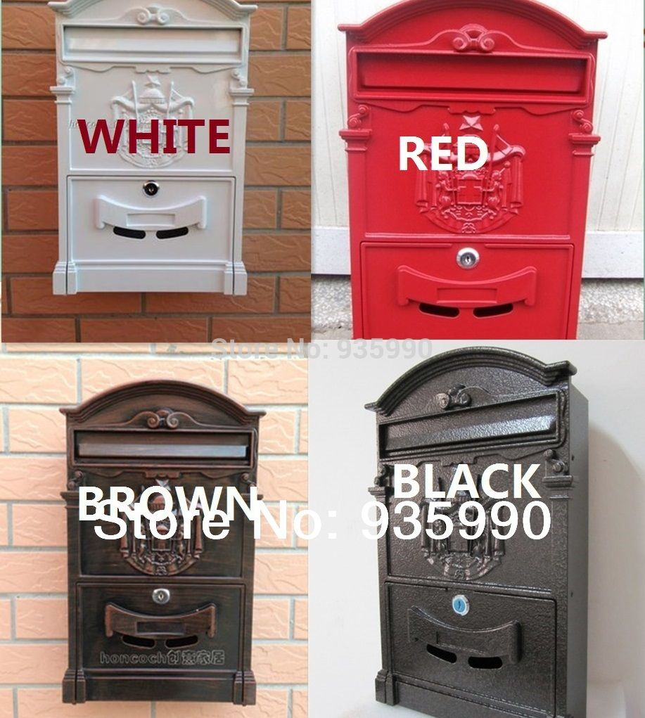 European Mail Box Antique Ancient Way Cast 44 Unit Vintage Bucket Bottle Opener Wall Locker Storage
