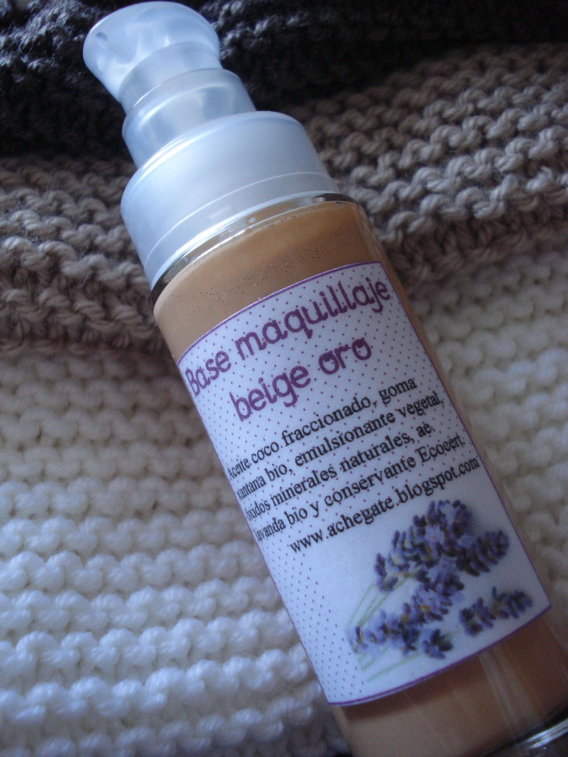 Base maquillaje fluido tono medio ecológico Organic