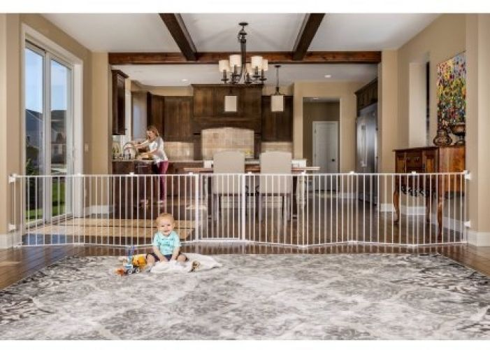 Baby Pet Dog Wide Safety Metal Gate Play Pen Indoor Outdoor Child Fence  Extra #Regalo