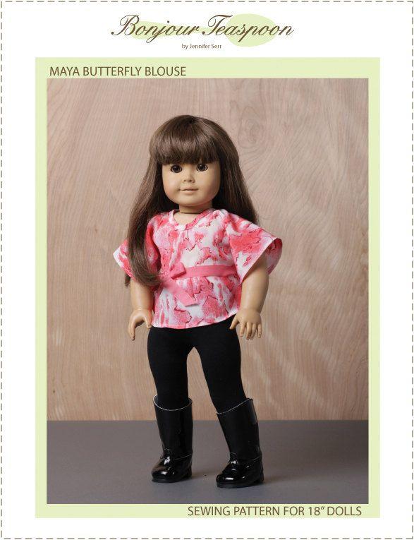 Maya Butterfly Blouse Pattern for 18\