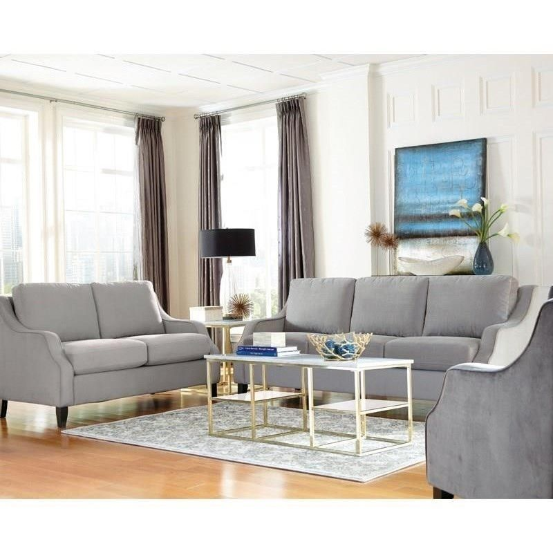 attractive Donny Osmond Sofa Part - 9: Donny Osmond Home Isabelle Sofa with Sloping Track Arms - Coaster Fine  Furniture