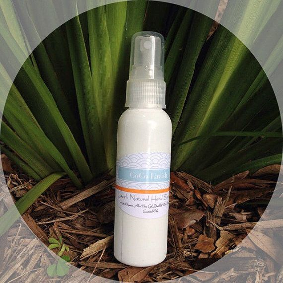 Hand Sanitizer Spray Or Gel Natural Organic Non By Cocolavish