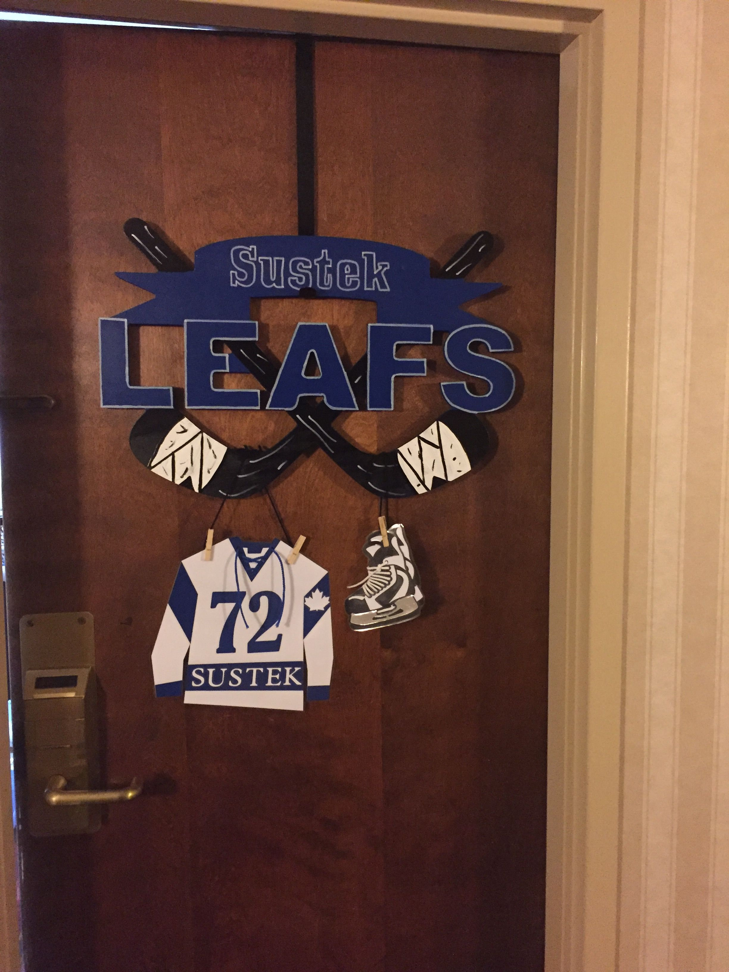 Another pic of our handmade wooden tournament signs for for Hotel door decor