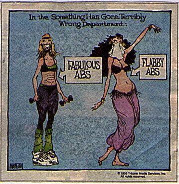 The ole standard cartoon all belly dancers love. lol