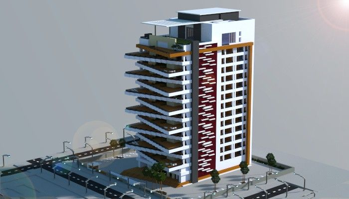 Superbe Modern Apartment Building Minecraft Project