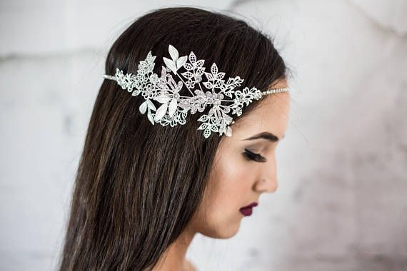 Bridal Headpiece Floral Headband Wedding Hair Band Bridal Head