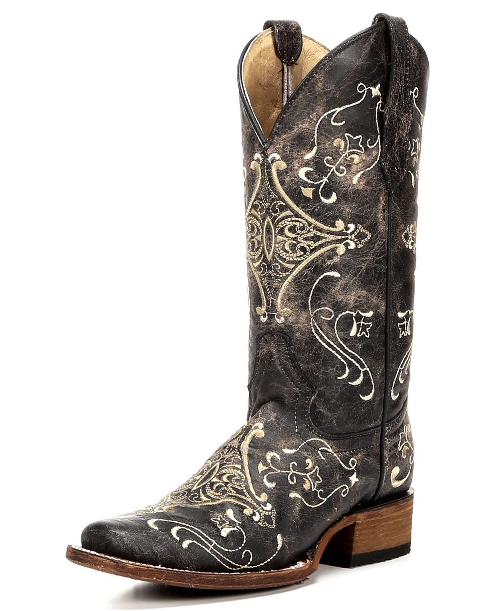 a89269d2d47 Circle G Diamond Embroidered Cowgirl Boots - Square Toe in 2019 ...