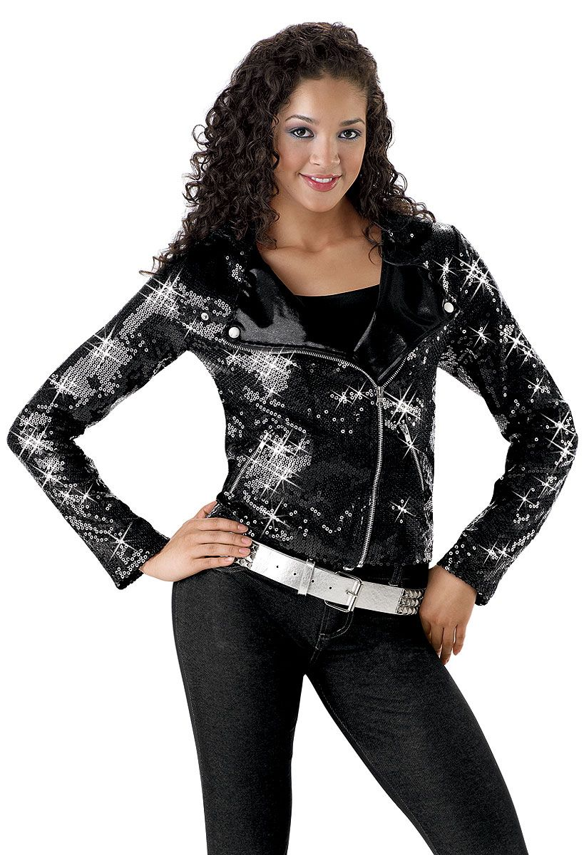 e7a00641a945 Black Sequin Motorcycle Jacket Costume; Balera. Black Sequin Motorcycle Jacket  Costume; Balera Rock N Roll ...