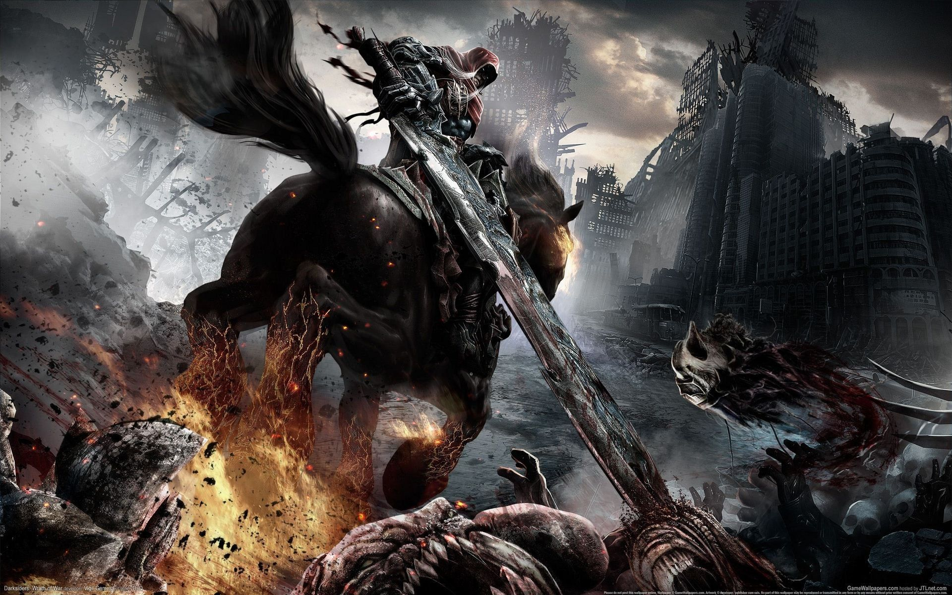 Darksiders Wrath Of War Hd Wallpaper 10 1920x1200 Hero Wallpaper Widescreen Wallpaper Pc Games Wallpapers