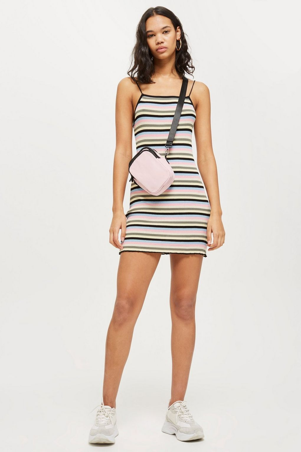 Candy Stripe Bodycon Dress Dresses Clothing Topshop Usa Bodycon Dress Casual Striped Bodycon Dress Clothes [ 1530 x 1020 Pixel ]