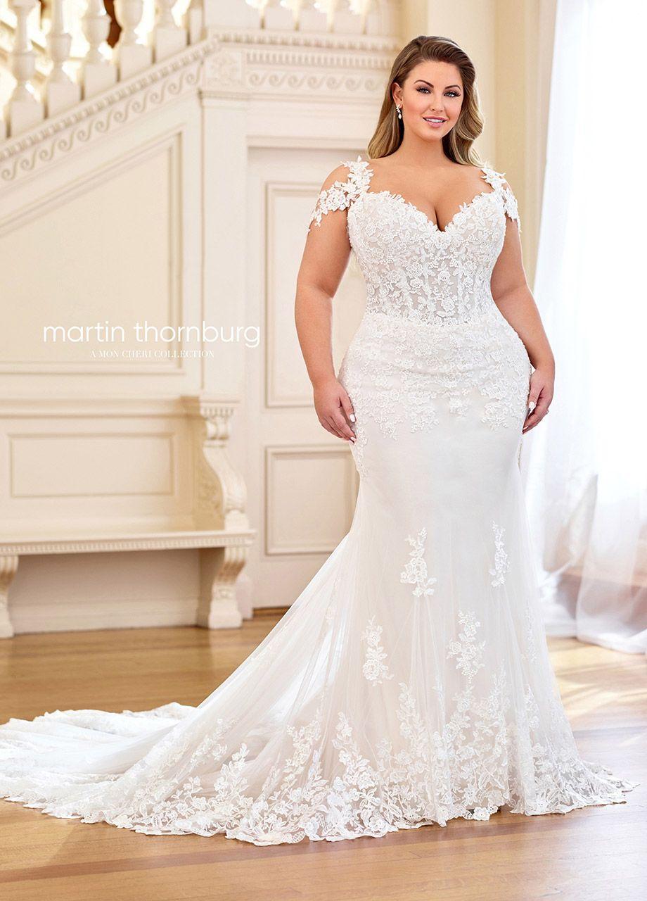 Martin Thornburg 119251w June Cold Shoulder Plus Size Wedding Gown In 2020 Plus Size Wedding Gowns Plus Wedding Dresses Cold Shoulder Wedding Dress