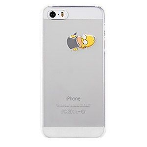 Fundas para iPhone 5 SE 5S Simpson Homer Comer Manzana Carcasa