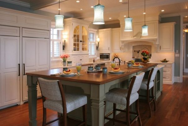30 Kitchen Islands With Tables A Simple But Very Clever Combo Modern Kitchen Island Design Kitchen Island Table Combination Kitchen Island And Table Combo