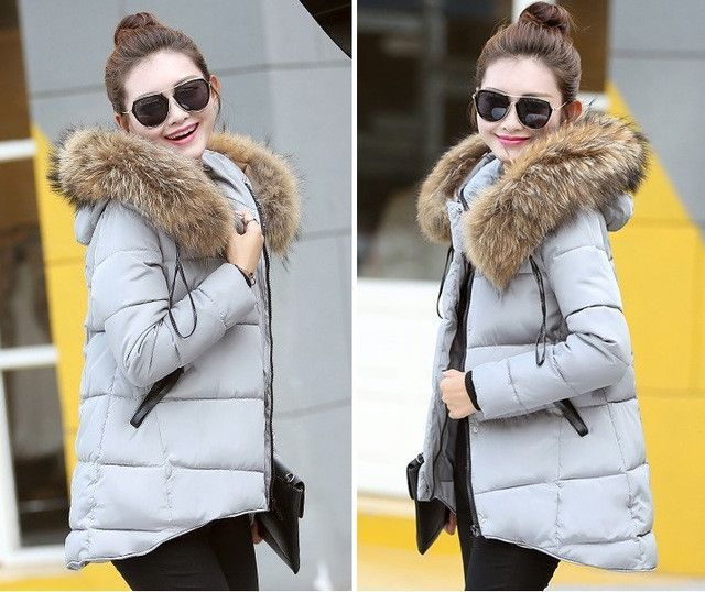 469f8de27a High Quality Fake fur collar Parka down cotton jacket 2016 Winter Jacket  Women thick Snow Wear Coat Lady Female Jackets Parkas