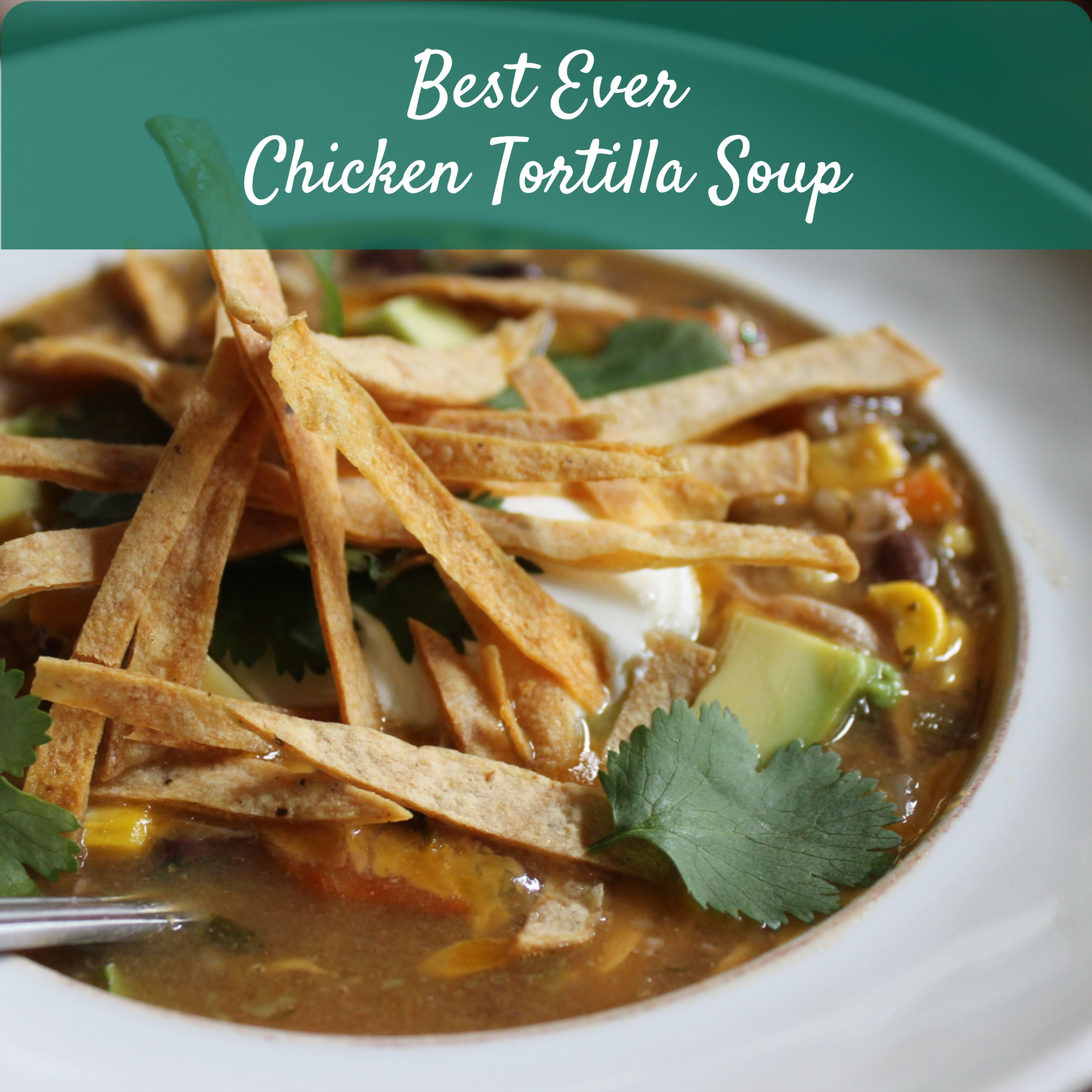 Best Ever Chicken Tortilla Soup #chickentortillasoup