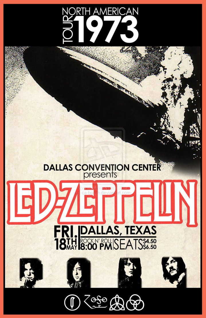 Lz North American Tour 1973 Dallas Texas Led Zeppelin