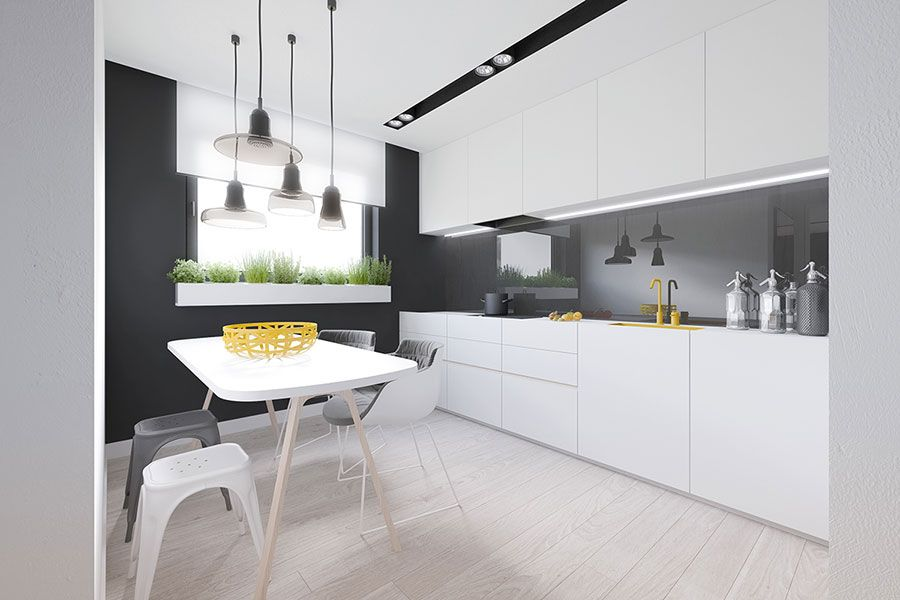 Idee per arredare una casa piccola in stile moderno interior design apartment layout - Idee per arredare una cucina piccola ...