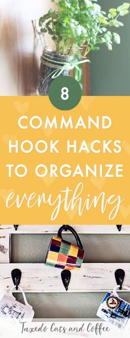 Best Home Hacks Diy Dollar Stores Command Hooks Ideas #diy ...