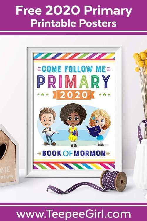 Free Latterday Saint Primary 2020 Primary printables for Come Follow Me Make y Free Latterday Saint Primary 2020 Primary printables for Come Follow Me Make y