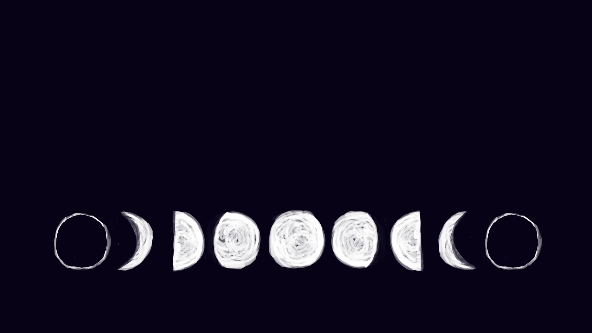 Moon Aesthetic Wallpaper Desktop