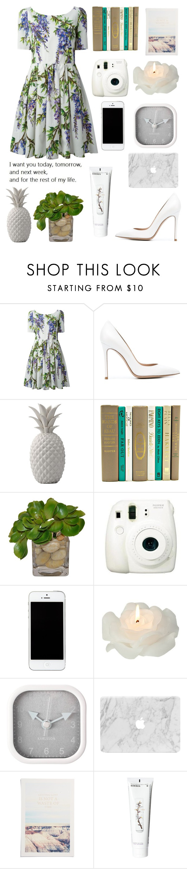 """""""#1039"""" by littleprincess555 ❤ liked on Polyvore featuring Dolce&Gabbana, Gianvito Rossi, Bloomingville, The French Bee, Fuji, Biedermann & Sons, Karlsson, Arts District Printing Co., Korres and women's clothing"""