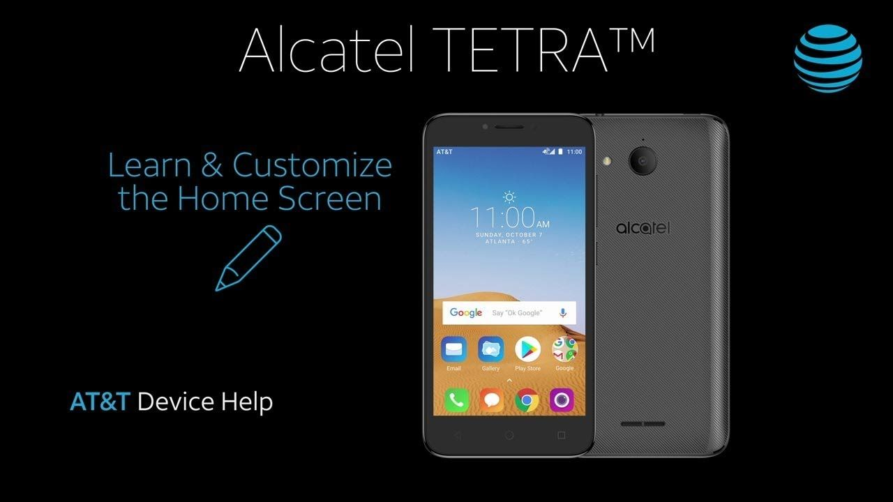 Learn and Customize the Home Screen on Your Alcatel TETRA