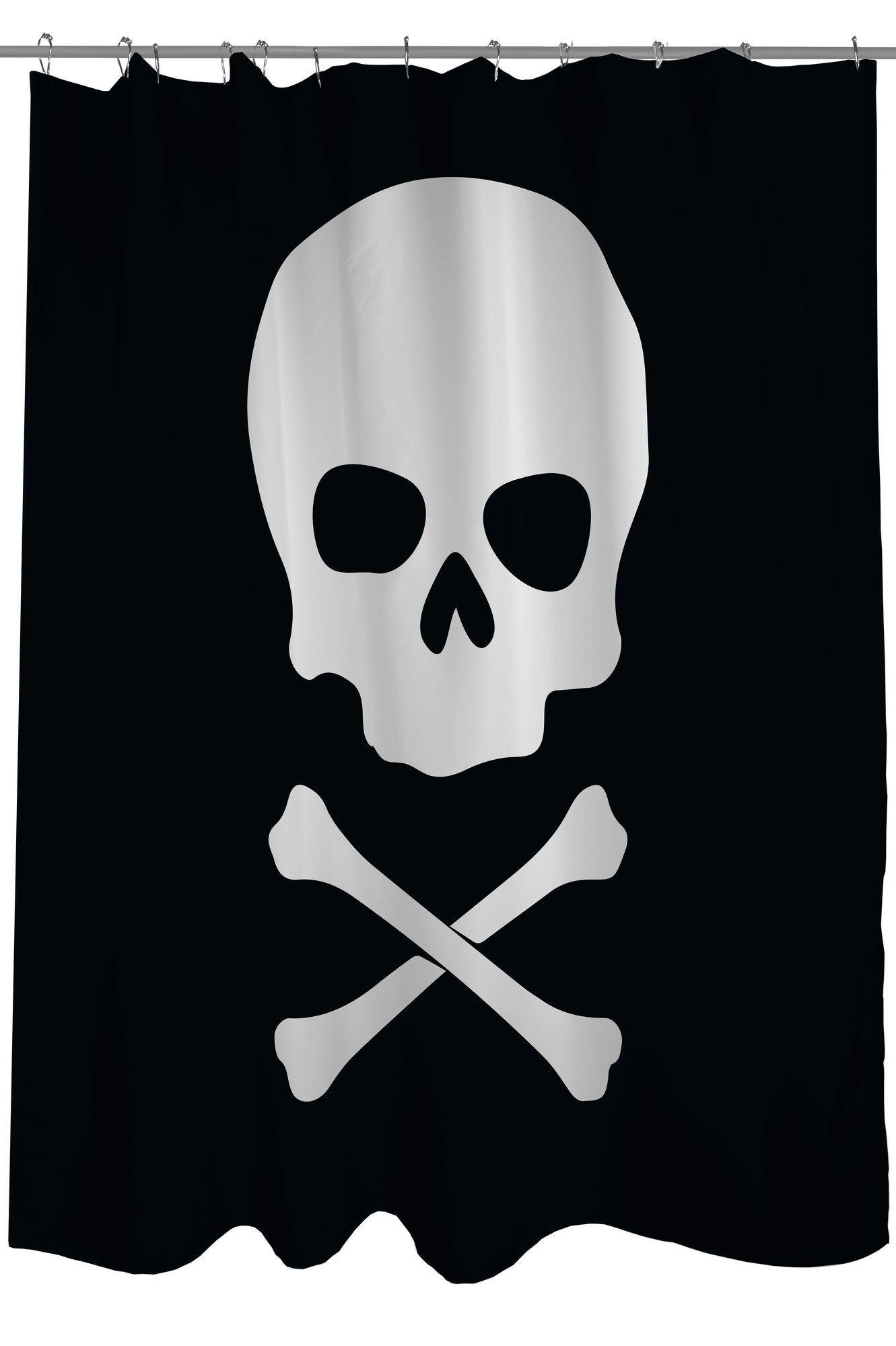 Skull Crossbones Single Shower Curtain Skull Crossbones Pirate