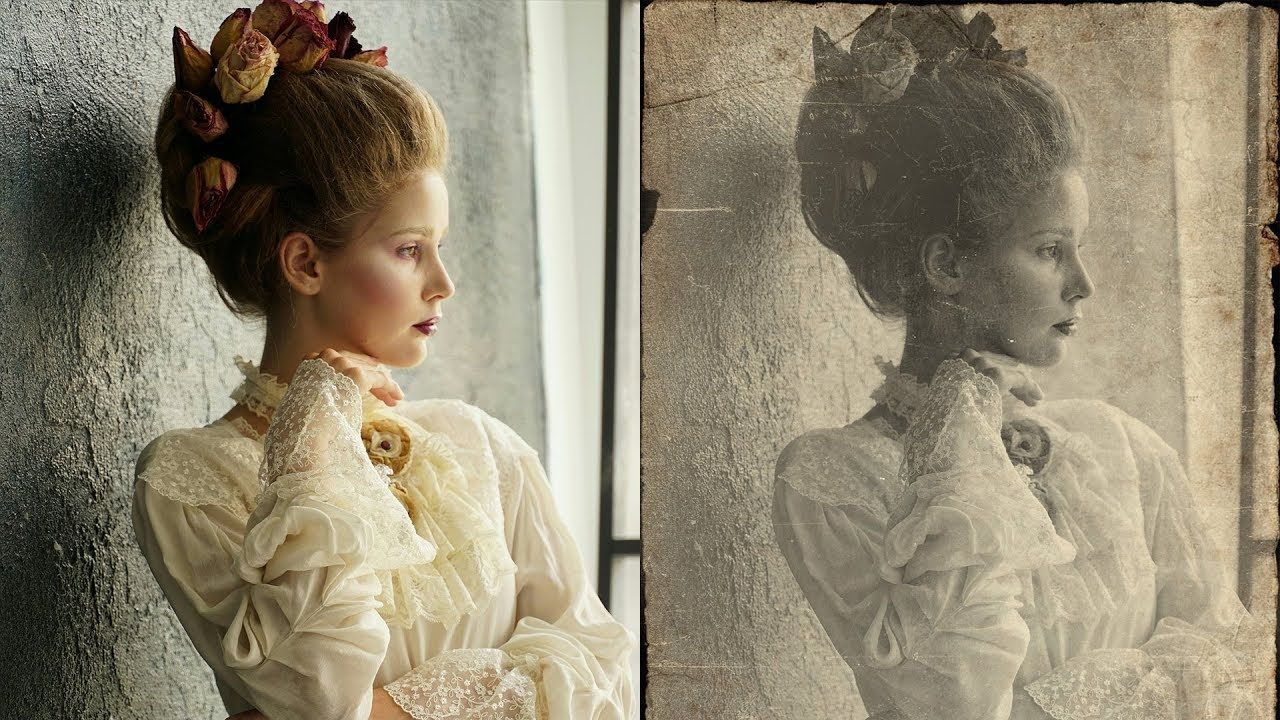 How to Create Vintage Old Photo Effect in