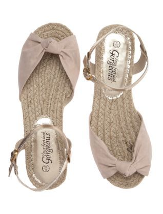 Oatmeal (Stone ) Oatmeal Knotted Front Sandals | 244930914 | New Look