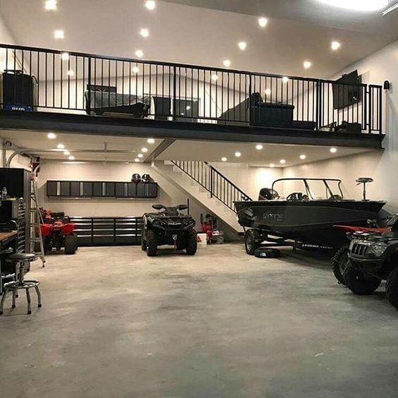 OMG. I want a garage like this. #goals #polebarngarage