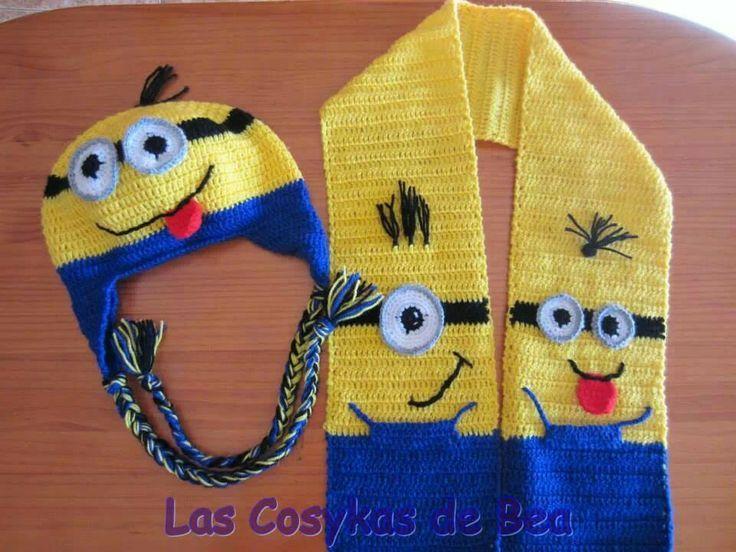 gorros a crochet - Buscar con Google | Gorros animados. | Pinterest ...