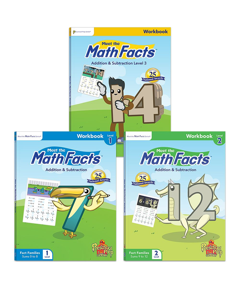 Workbooks kindergarten common core workbook : Meet the Math Facts Workbook Set | Preschool & Kindergarten ...