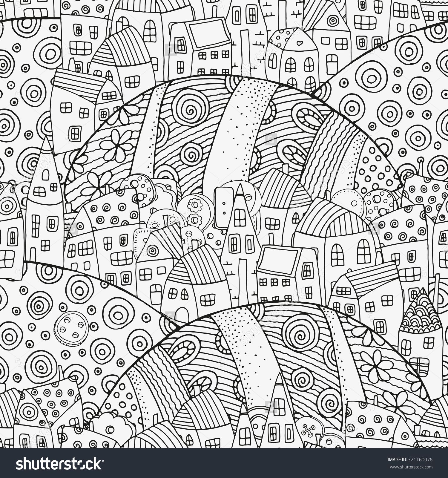 Neighborhood | Coloring Therapy | Pinterest | Colorear, Dibujar y Letras