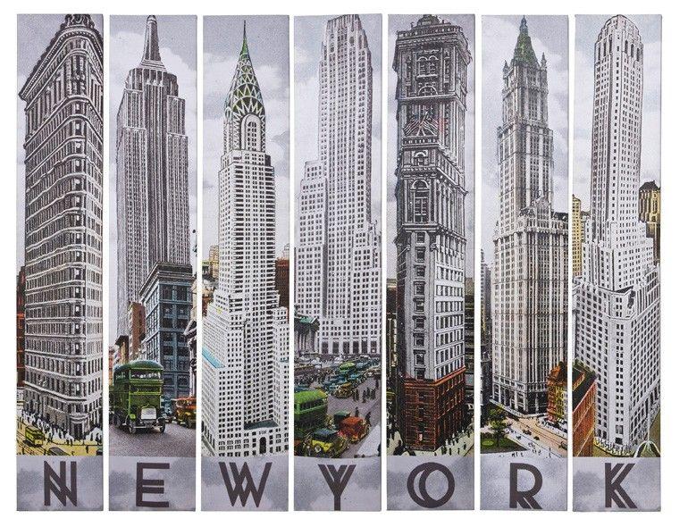 New York Buildings | KARE Design New York Architecture 7er Bilder Set