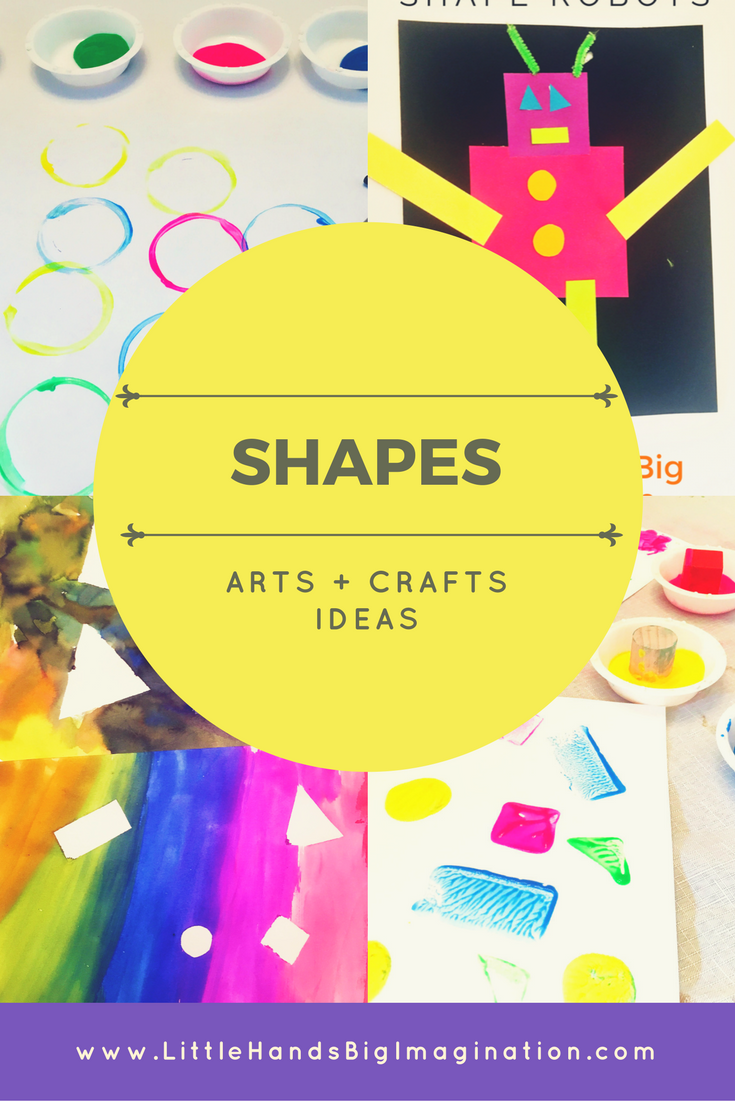 shapes arts and crafts for kids and toddlers little hands big