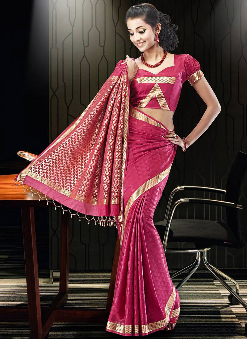 Mamatha Dark Pink Crepe Silk Saree   Bollywood dress   Pinterest ...