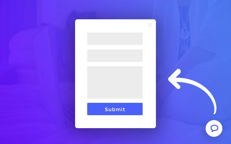 How to add a floating bubble icon that opens contact form popup