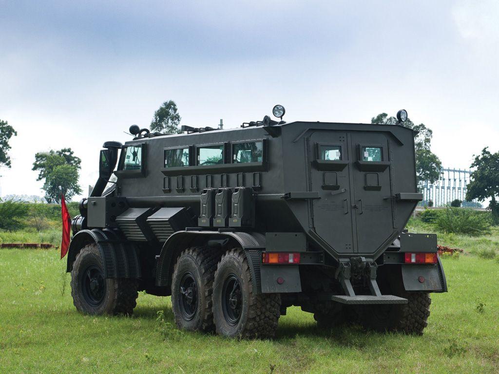 Army Armored Vehicles Mahindra 6x6 Mpv Aiden