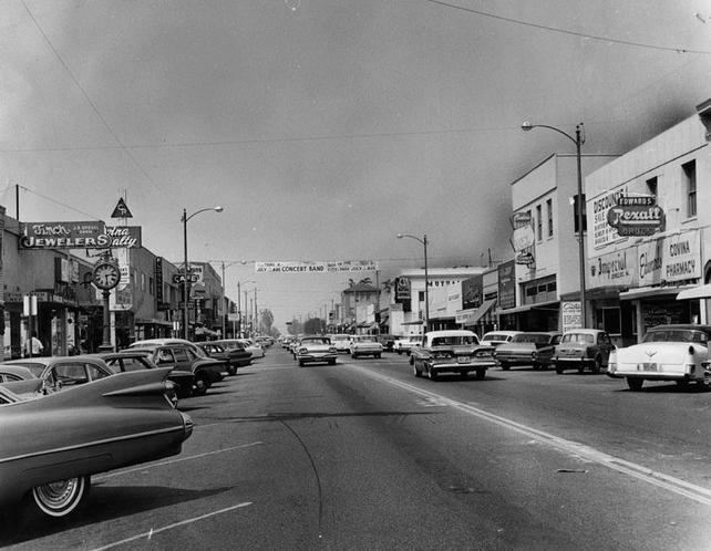 Covina, CA 1962 main street | West covina, Vintage