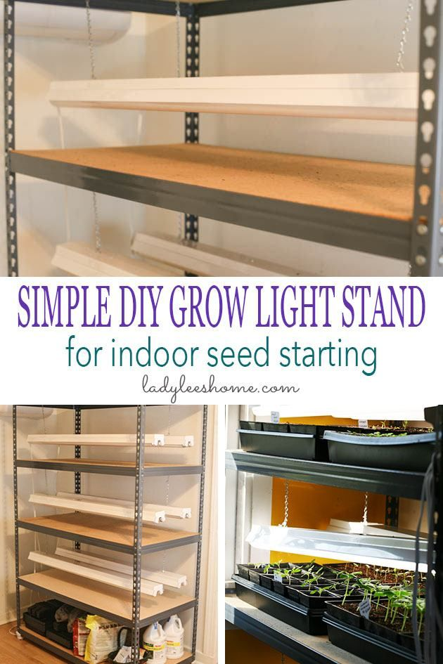 DIY Grow Light Stand For Indoor Seed Starting | Grow light ...